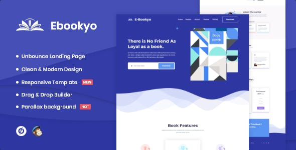 Ebookyo - Ebook Unbounce Landing Page Template