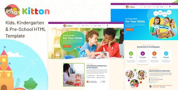 Kitton - Kids Kindergarten And Pre-School HTML Template