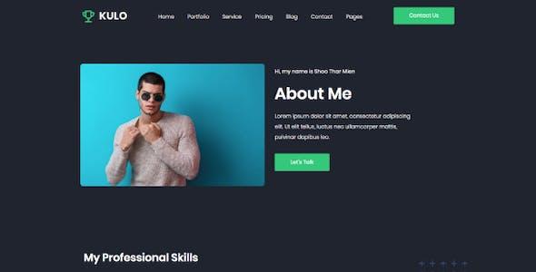 Kulo - Professional Resume Elementor Template Kit