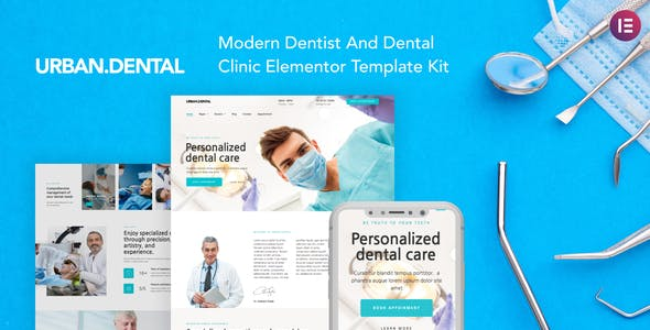 UrbanDental – Dentist & Dental Clinic Template Kit