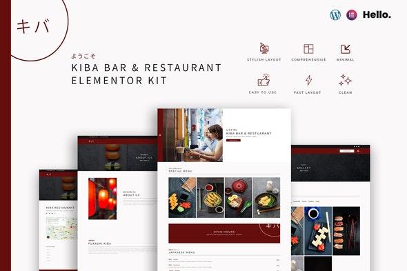 Kiba Bar & Restaurant   Elementor Kit - Food & Drink Elementor