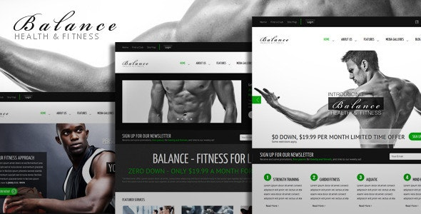 Balance - Gym Fitness HTML Theme - Miscellaneous Site Templates