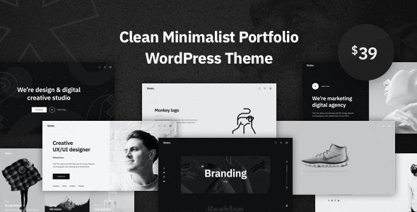 Sixten - Minimalist Portfolio WordPress Theme - Portfolio Creative