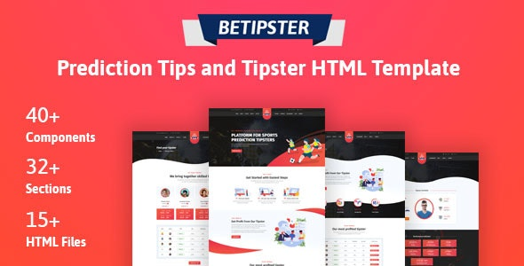 Betipstar - Prediction Tips & Tipster Platform HTML Template - Miscellaneous Site Templates