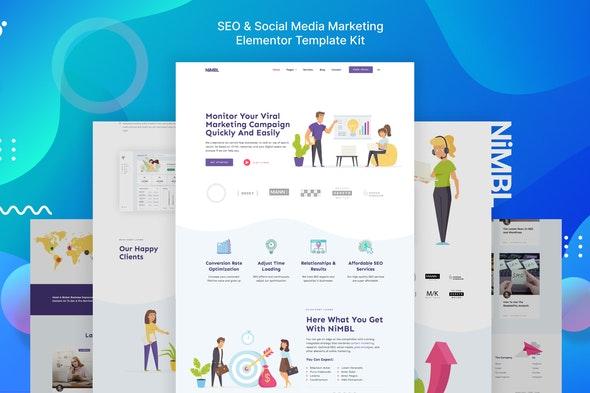 Nimbl – SEO & Social Media Marketing Template Kit - Business & Services Elementor