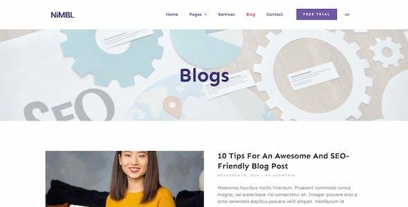 Nimbl – SEO & Social Media Marketing Template Kit