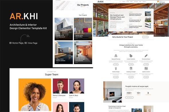 Arkhi Architecture & Interior Design Elementor Template Kit - Real Estate & Construction Elementor
