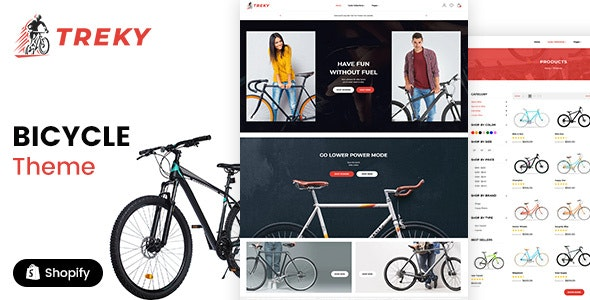 Treky - Bike Store Single Product Shopify Theme - Shopify eCommerce