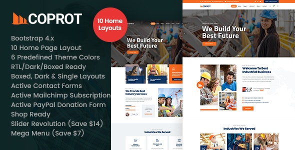 Coprot - Factory Industrial HTML - Business Corporate
