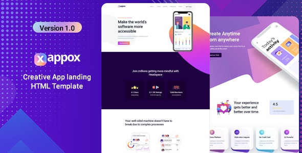 Xappox - App Landing Page - Software Technology