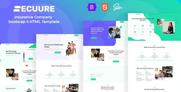 Secuure - Insurance Company bootsrap 5 HTML Template - Business Corporate