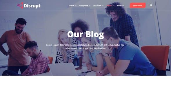 Disrupt - Tech Startup Business Elementor Template Kit