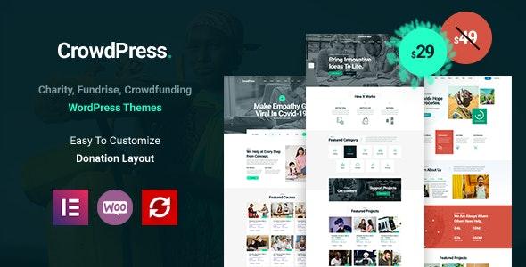 CrowdPress - Crowdfunding Responsive WordPress Theme - Charity Nonprofit