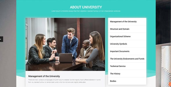 University - Responsive Moodle Theme