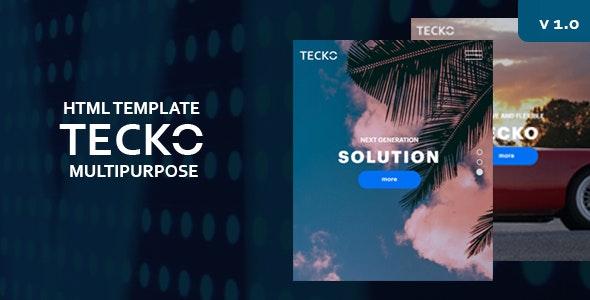 TECKO - Minimal HTML Template - Site Templates