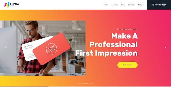AlphaColor | Type Design & Printing Services WordPress Theme + Elementor