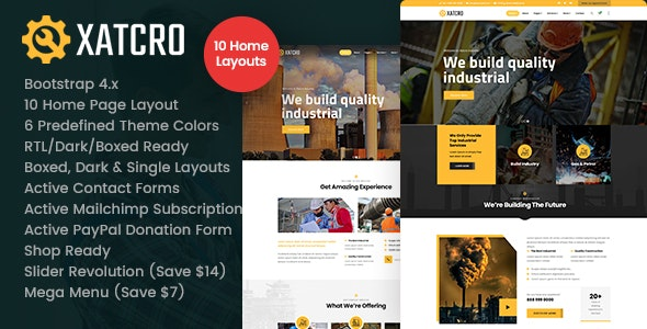 Xatcro - Factory Industrial HTML - Business Corporate