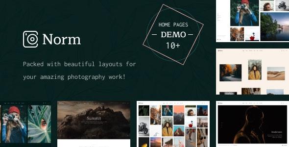 Norm - Photography Elementor WordPress Theme - Photography Creative