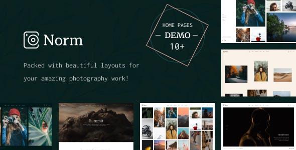 Norm - Photography Elementor WordPress Theme