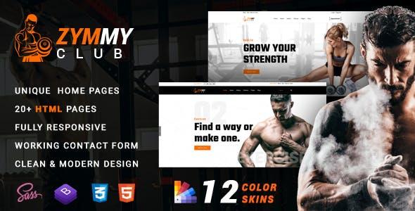 Zymmy - Fitness & Gym HTML Template