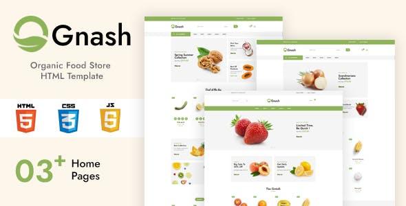 Gnash - Organic Food Store HTML Template