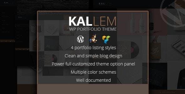 Kallem - Creative Portfolio WordPress Theme