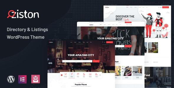 Ziston - Directory Listing WordPress Theme - Directory & Listings Corporate