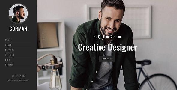 GORMAN - Responsive Bootstrap 4 One Page Portfolio Template - Portfolio Creative