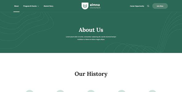 Elmna - University Alumni Website Design UI Template Figma