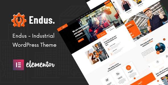 Endus - Industrial Manufacturing WordPress Theme