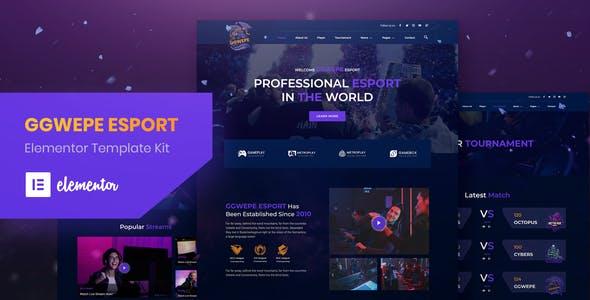 GGWEPE – Esports & Gaming Elementor Template Kit