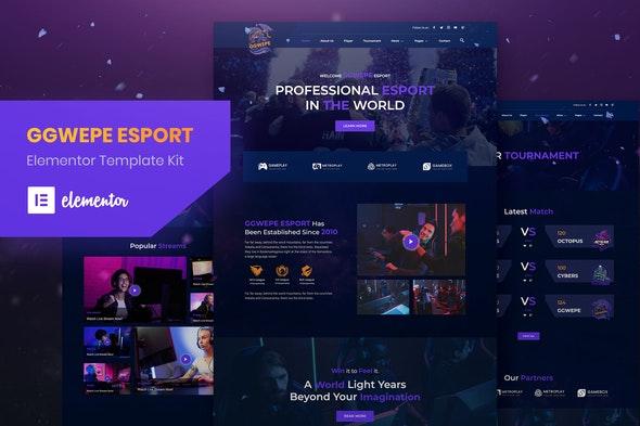 GGWEPE – Esports & Gaming Elementor Template Kit - Sport & Fitness Elementor