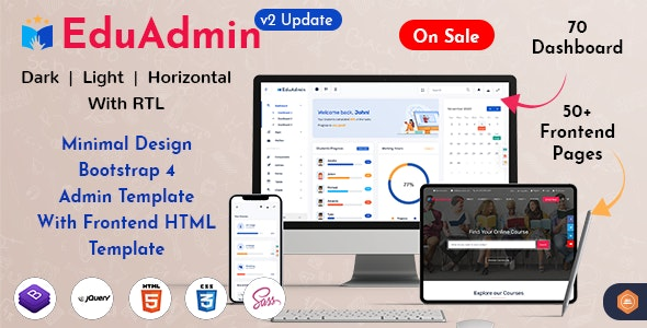 Eduadmin - Responsive Bootstrap Admin Template Dashboard - Admin Templates Site Templates