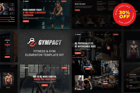 Gympact - Fitness & Gym Elementor Template Kit - Sport & Fitness Elementor