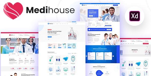 Medihouse - Hospital Medicale Caregiver XD Template - Adobe XD UI Templates