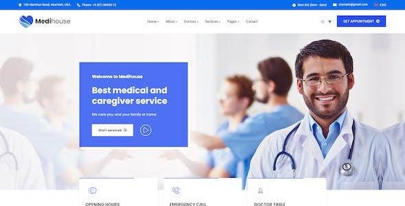 Medihouse - Hospital Medicale Caregiver XD Template