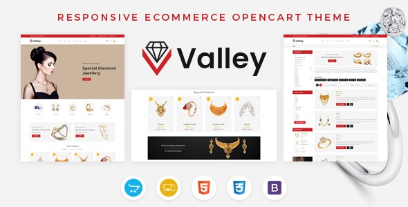 Valley - Jewellery OpenCart Responsive Theme - Fashion OpenCart