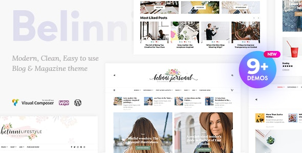 Belinni - Multi-Concept Blog / Magazine WordPress Theme - Blog / Magazine WordPress