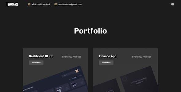 Thomas - CV/Portfolio Elementor Template Kit