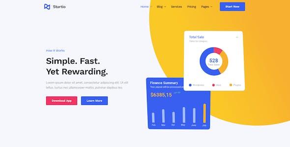 Startio - Saas & Digital Agency Elementor Template Kit