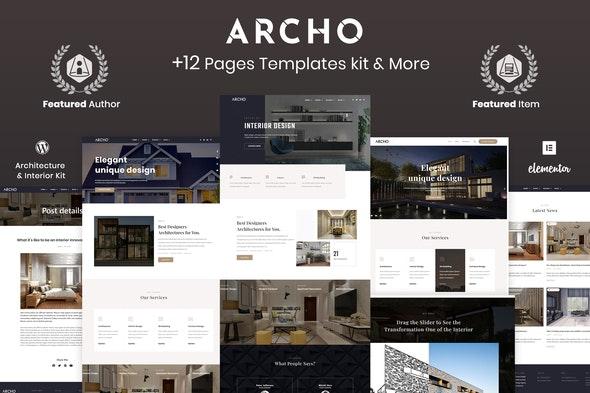 Archo - Architecture & Interior Elementor Template Kit - Elementor Template Kits