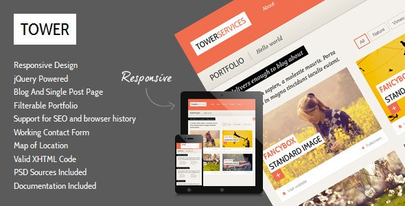 Tower - Clean Responsive Template - Creative Site Templates