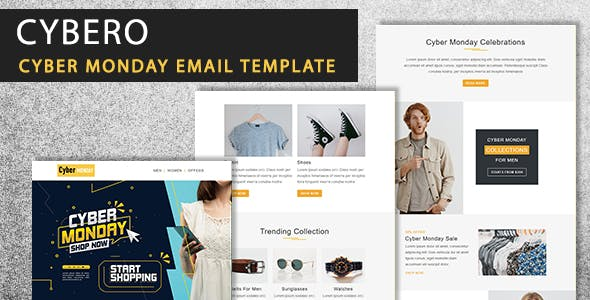 Cybero - Cyber Monday Email Newsletter Template