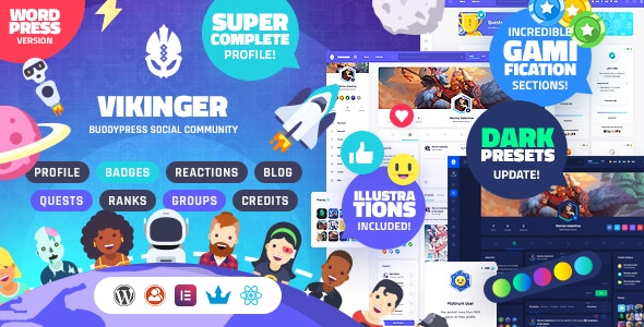 Vikinger - BuddyPress and GamiPress Social Community - BuddyPress WordPress