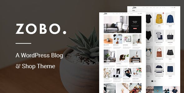 Zobo - A WordPress Blog and Shop Theme
