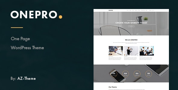 OnePro - Responsive Onepage WordPress Theme - Creative WordPress