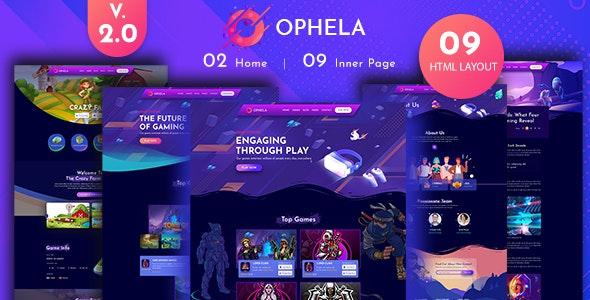 Ophela - Gaming Studio HTML Template - Entertainment Site Templates