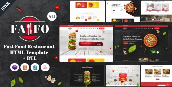 Fafo - Fast Food & Restaurant HTML Template - Restaurants & Cafes Entertainment