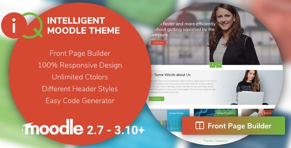 IQ | Intelligent Moodle Theme - Moodle CMS Themes