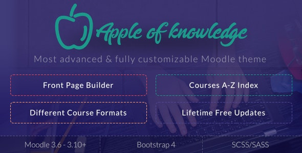 Apple of Knowledge | Premium Moodle Theme - Moodle CMS Themes
